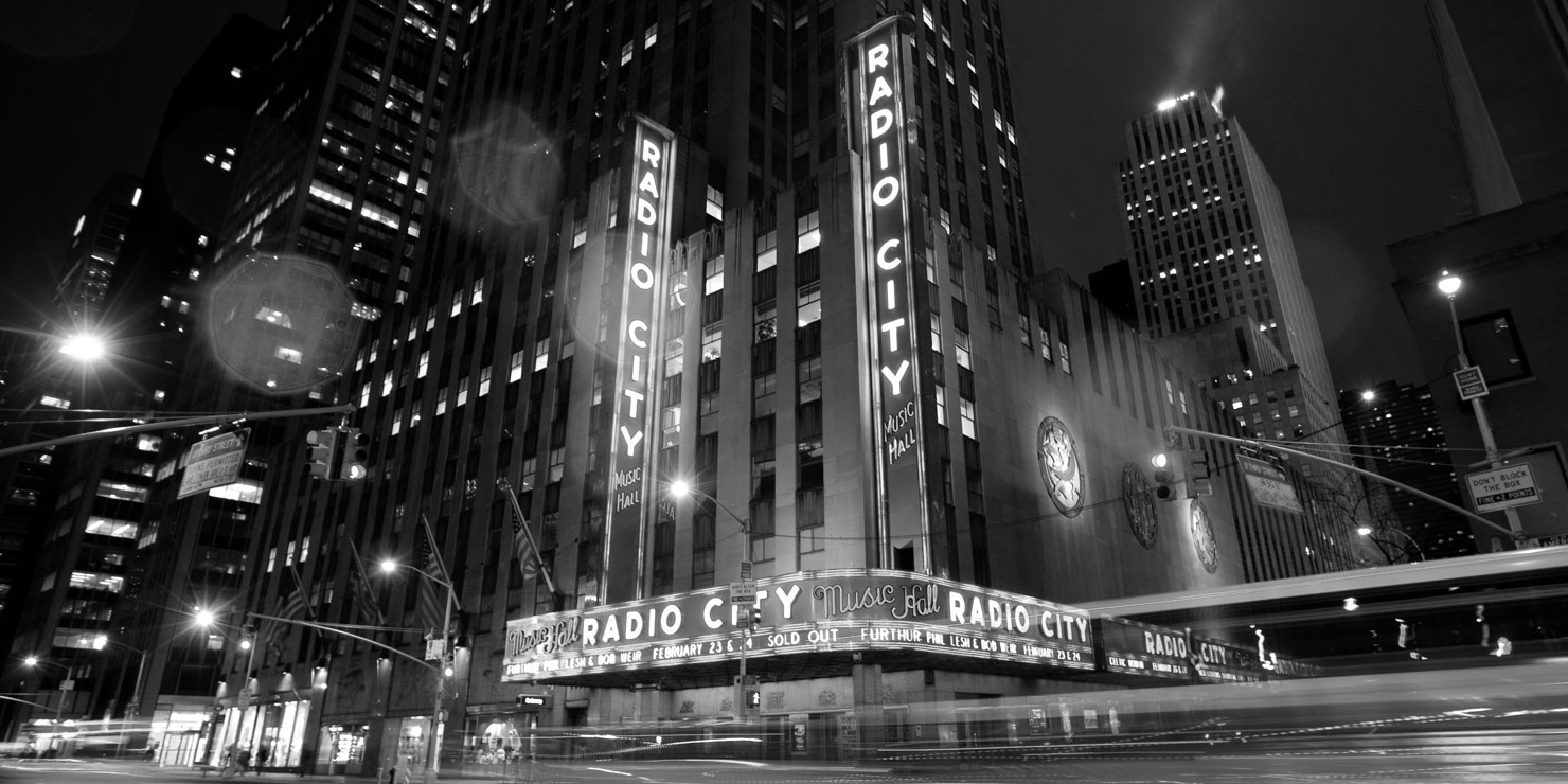 Exterior of Radio City Music Hall. Photo: Ed Schipul.