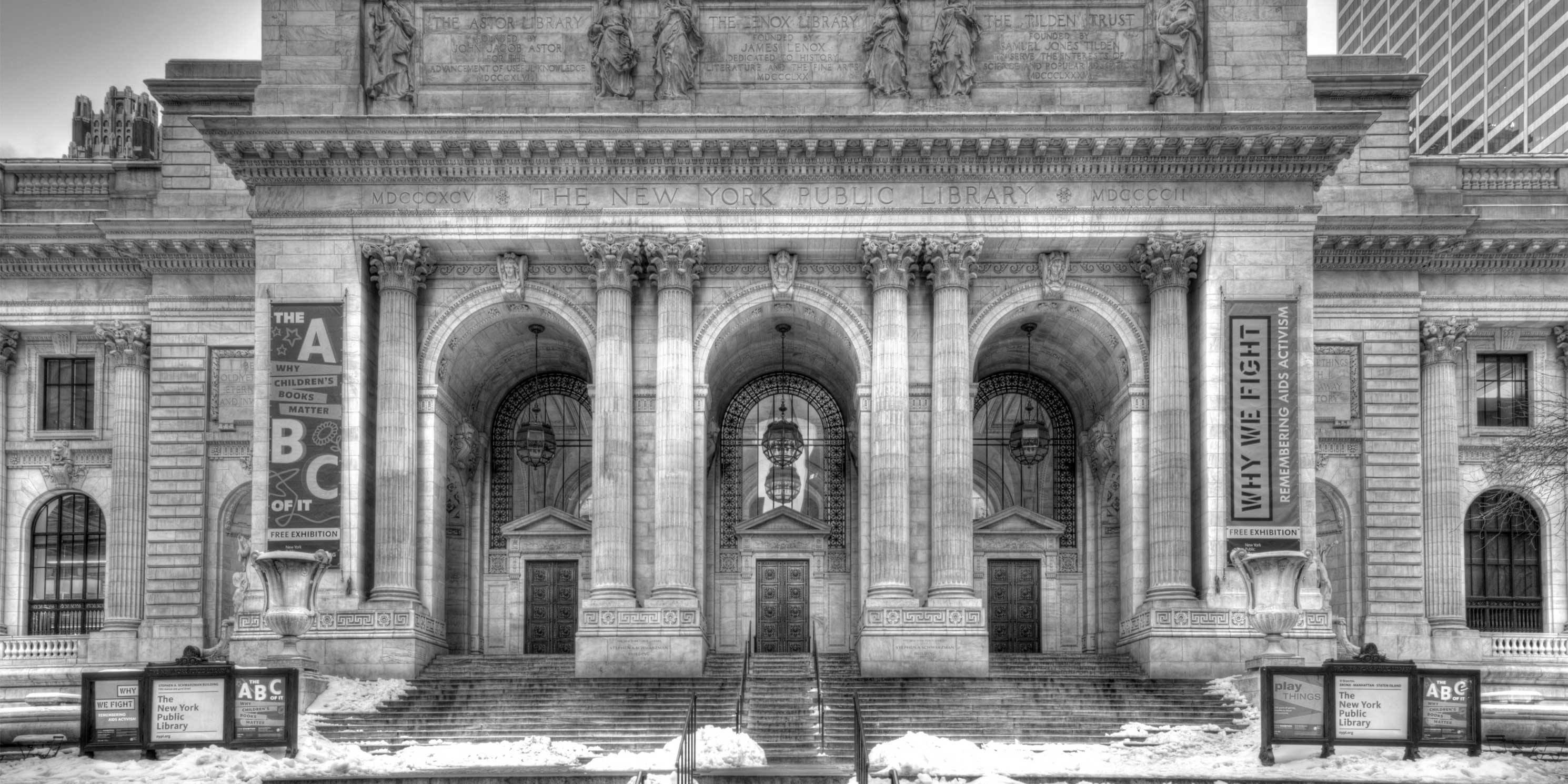 The Stephen A. Schwarzman Building of the New York Public Library. Photo: Wikimedia Commons, Bestbudbrian.