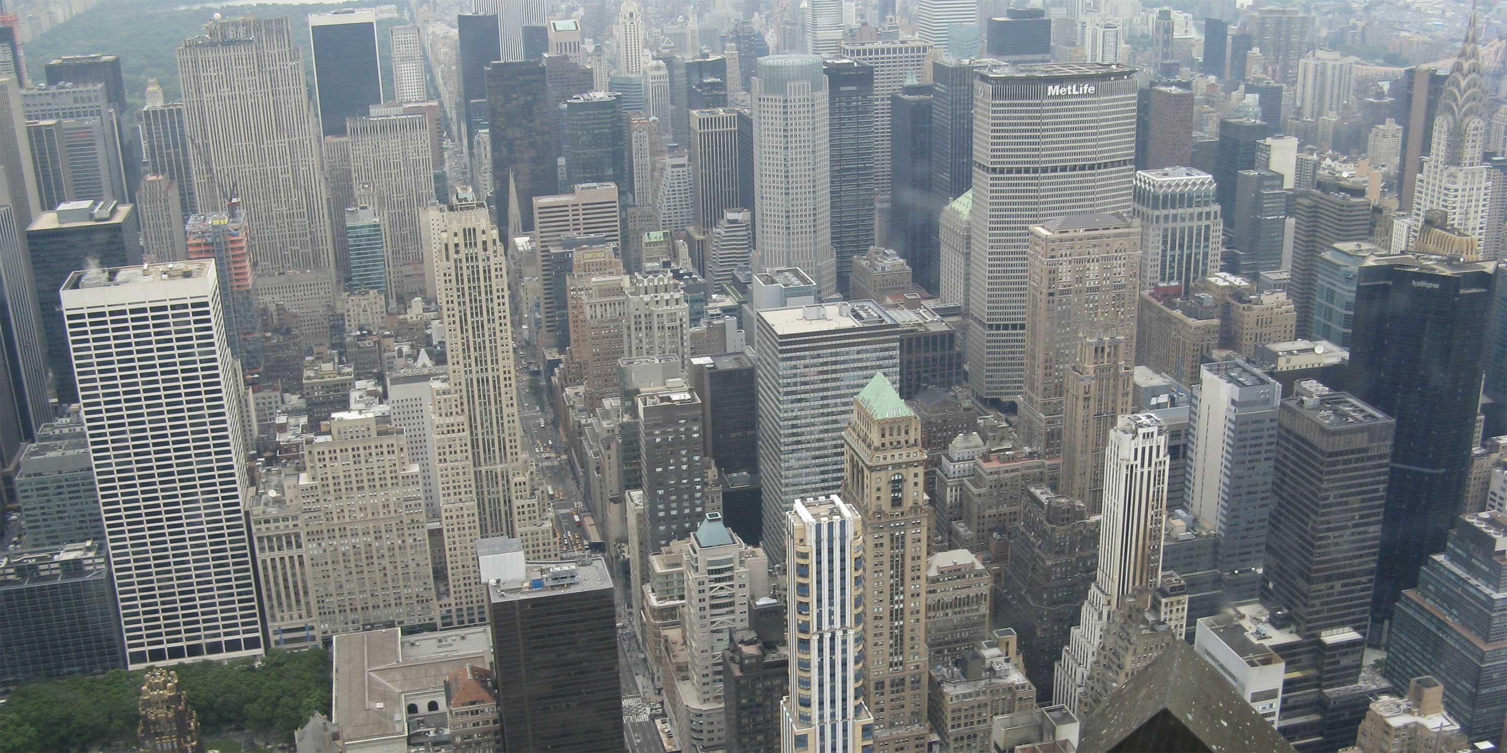 Skyscrapers in Midtown Manhattan. Photo: Wikimedia Commons, Yair Haklai.
