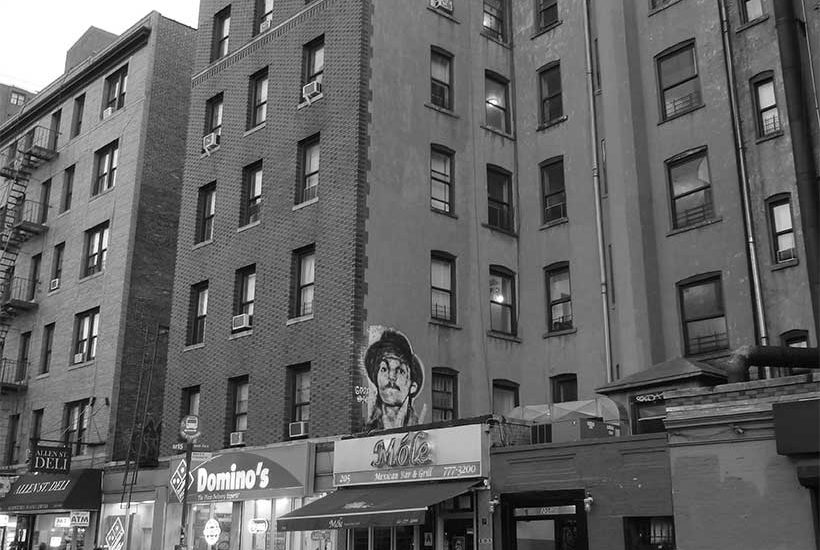 East Houston Street at Allen Street in Manhattan's Lower East Side. Photo: Wikimedia Commons, The All-Nite Images.