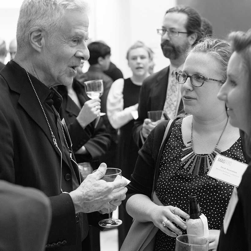 Guests at a reception after the MASterworks Awards in 2016. Photo: The Municipal Art Society of New York.