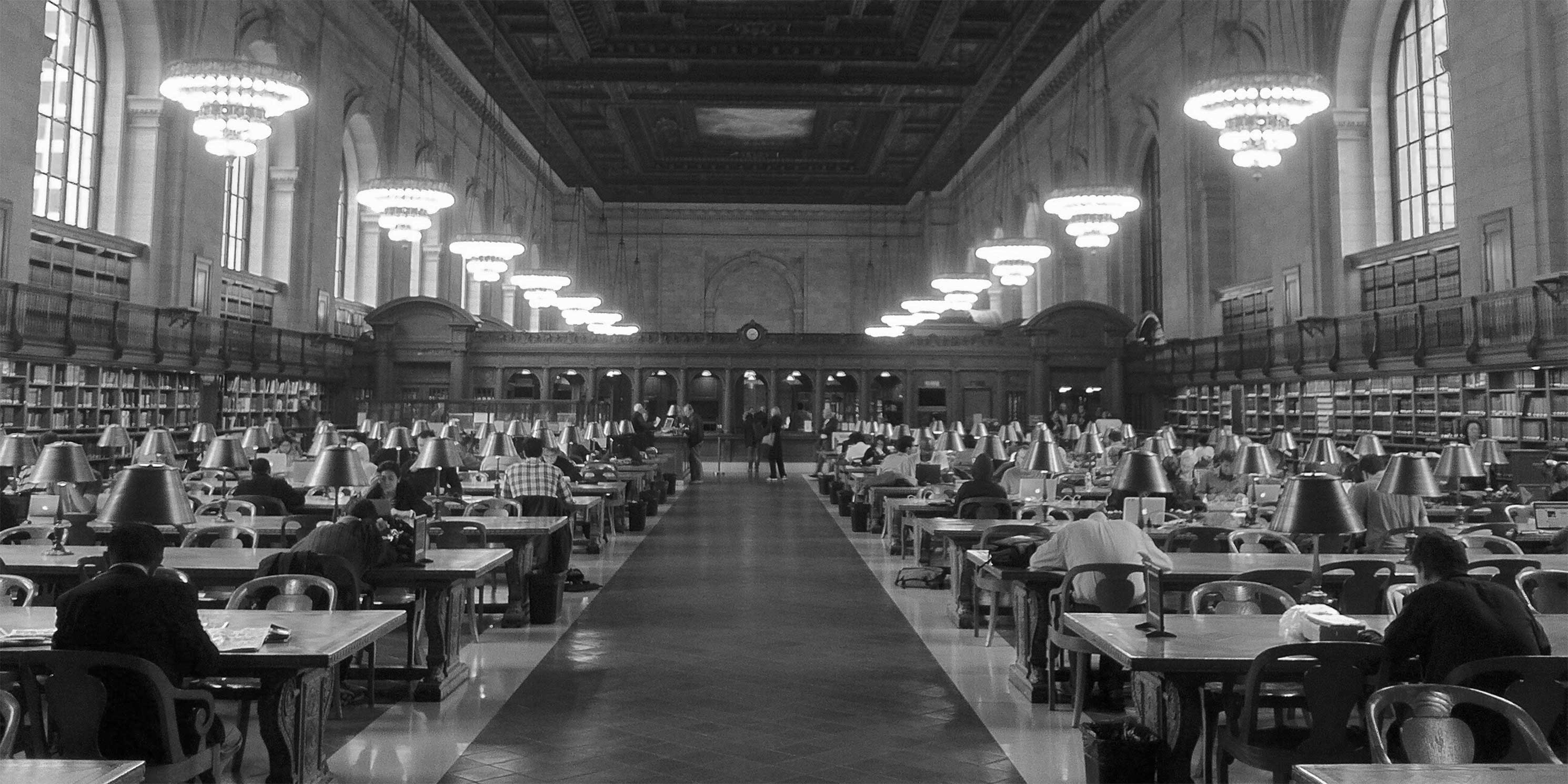 The Rose Reading Room at the New York Public Library's Stephen A. Schwarzman Building. Photo: Wikimedia Commons, Ran Yaniv Hartstein.