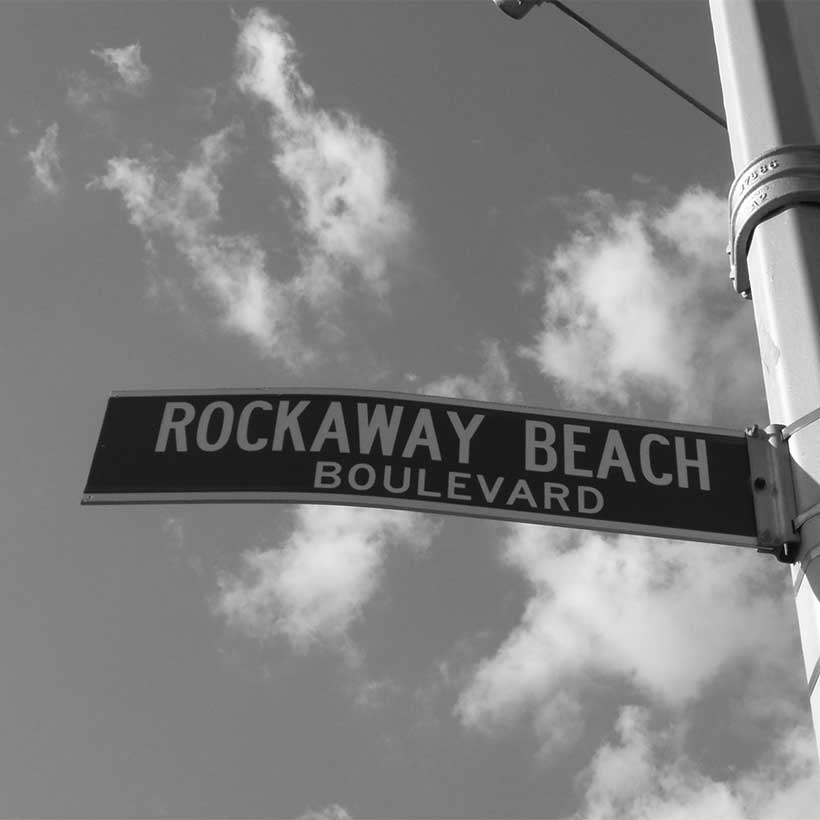 Street sign for Rockaway Beach Boulevard. Photo: Wikimedia Commons, Sbazzone.