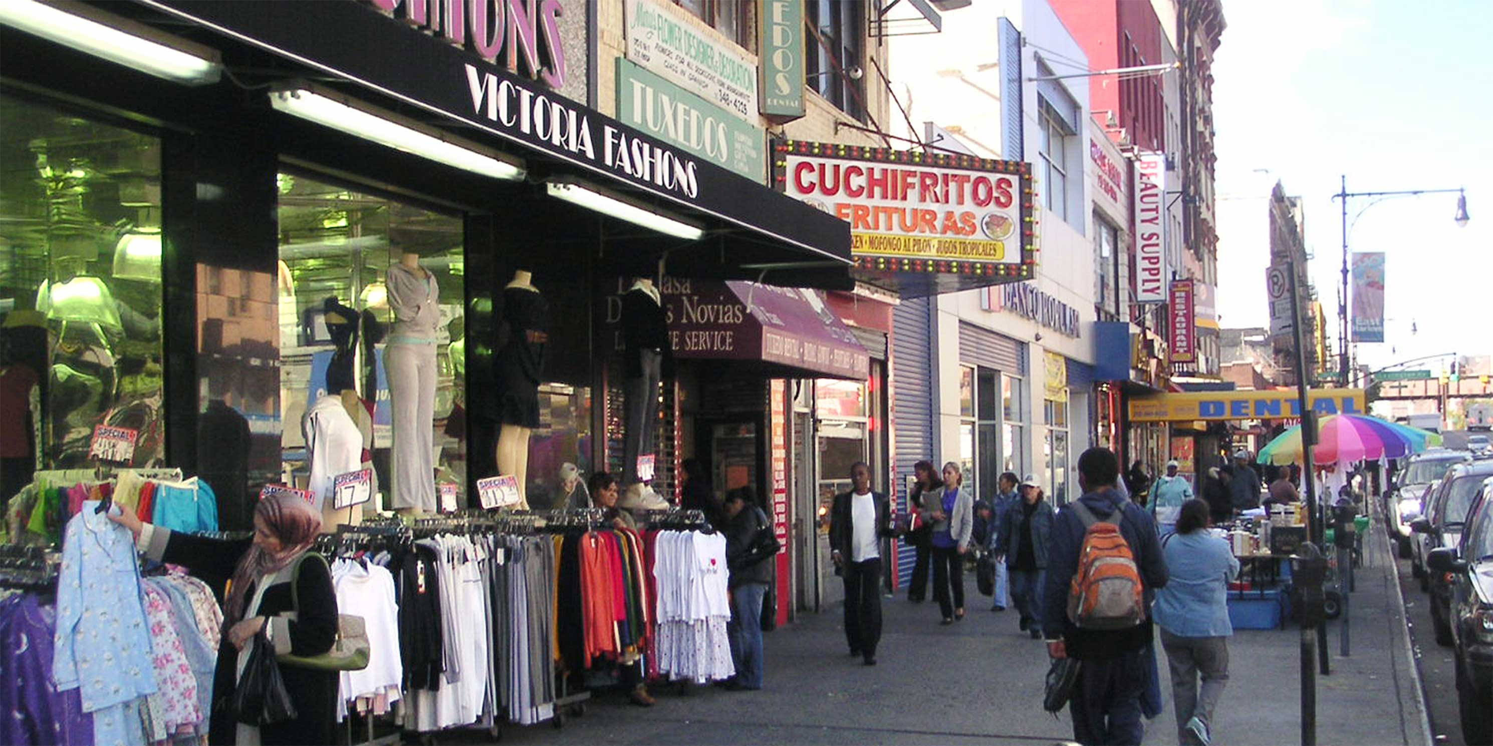 exterior of clothing store in East Harlem