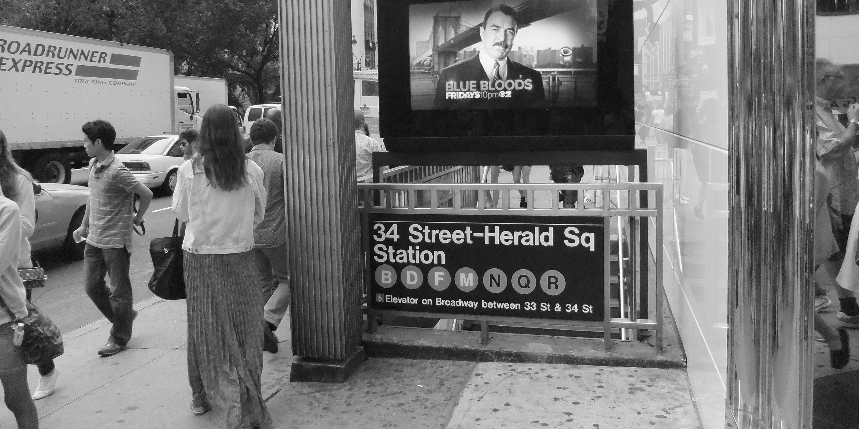 An entrance to the 34th Street-Herald Square subway station. Photo: Wikimedia Commons, Harrison Leong.