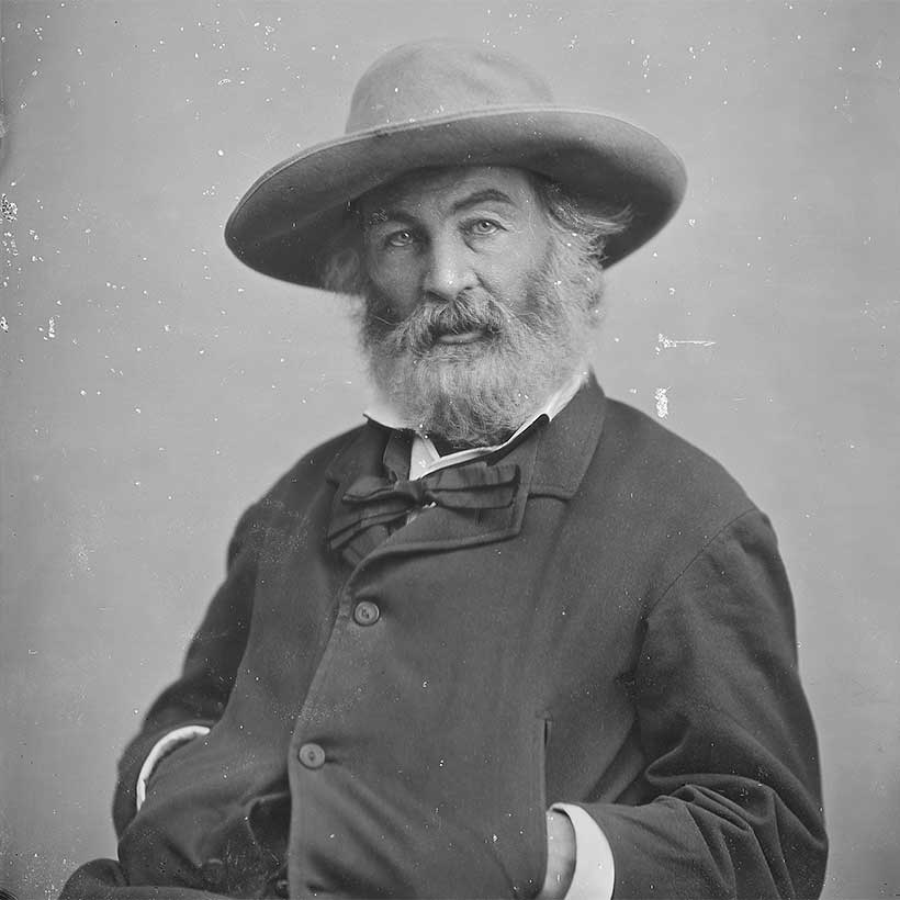 Walt Whitman by photographer Mathew Brady. Photo: National Archives.