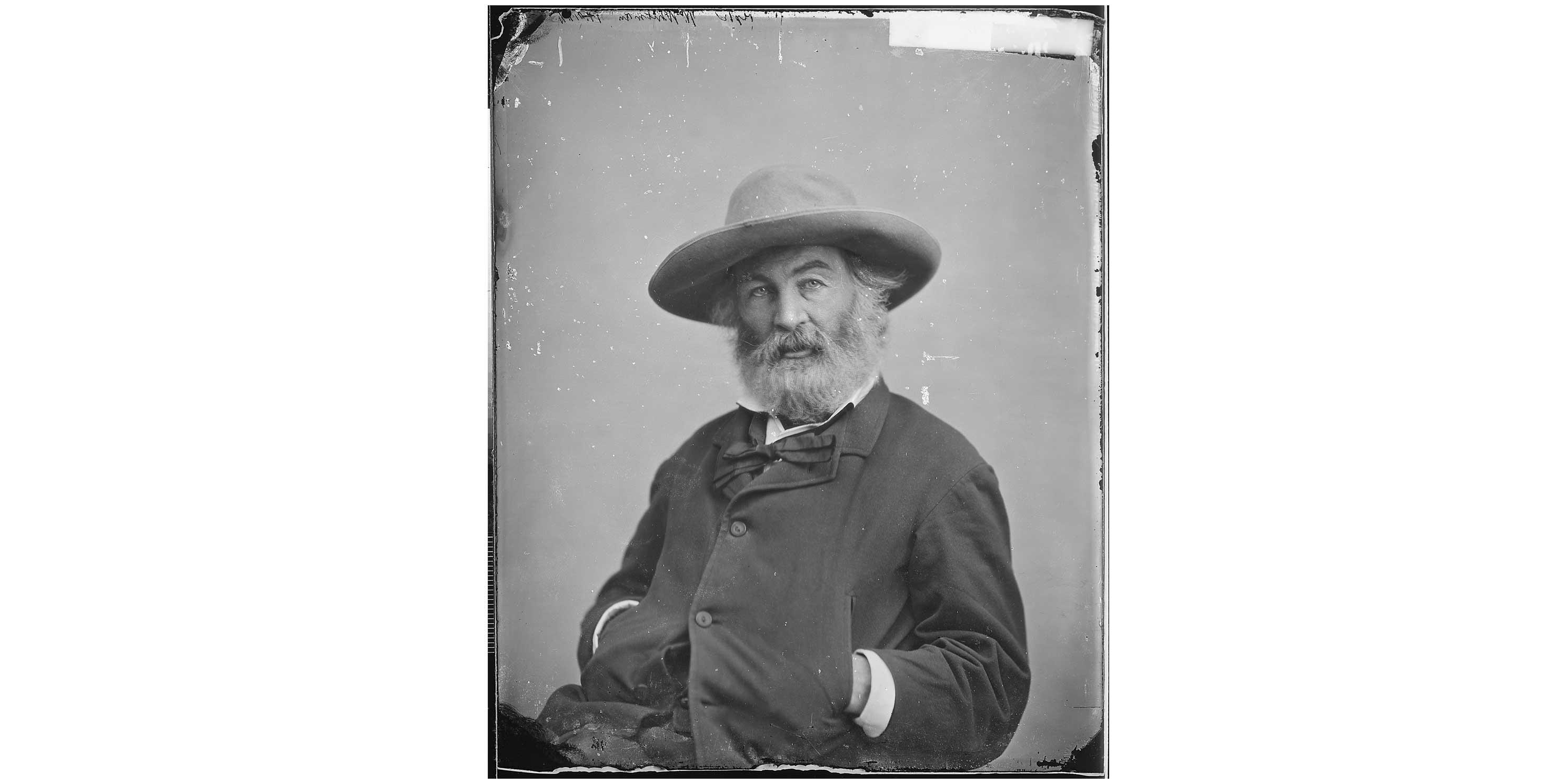 Walt Whitman by photographer Mathew Brady. Photo: National Archives.