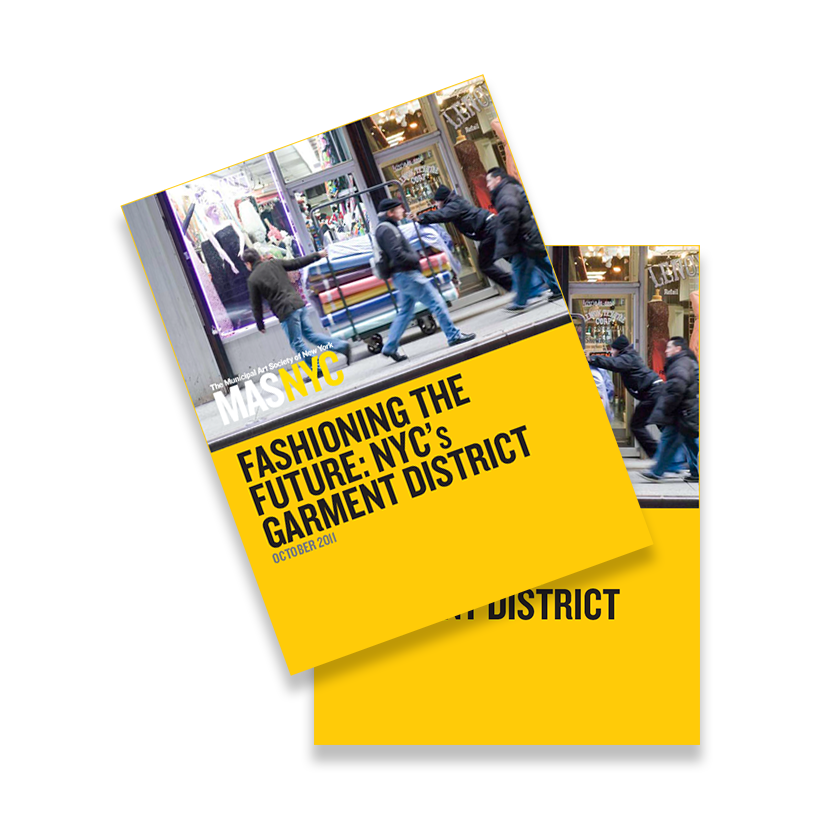 Fashioning the Future: NYC's Garment District report cover