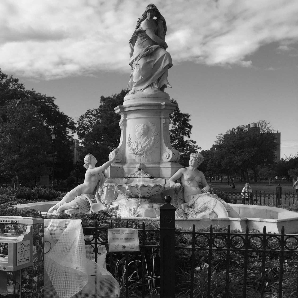 """The Heinrich Heine Fountain (""""Die Lorelei"""") by Ernest Herter"""