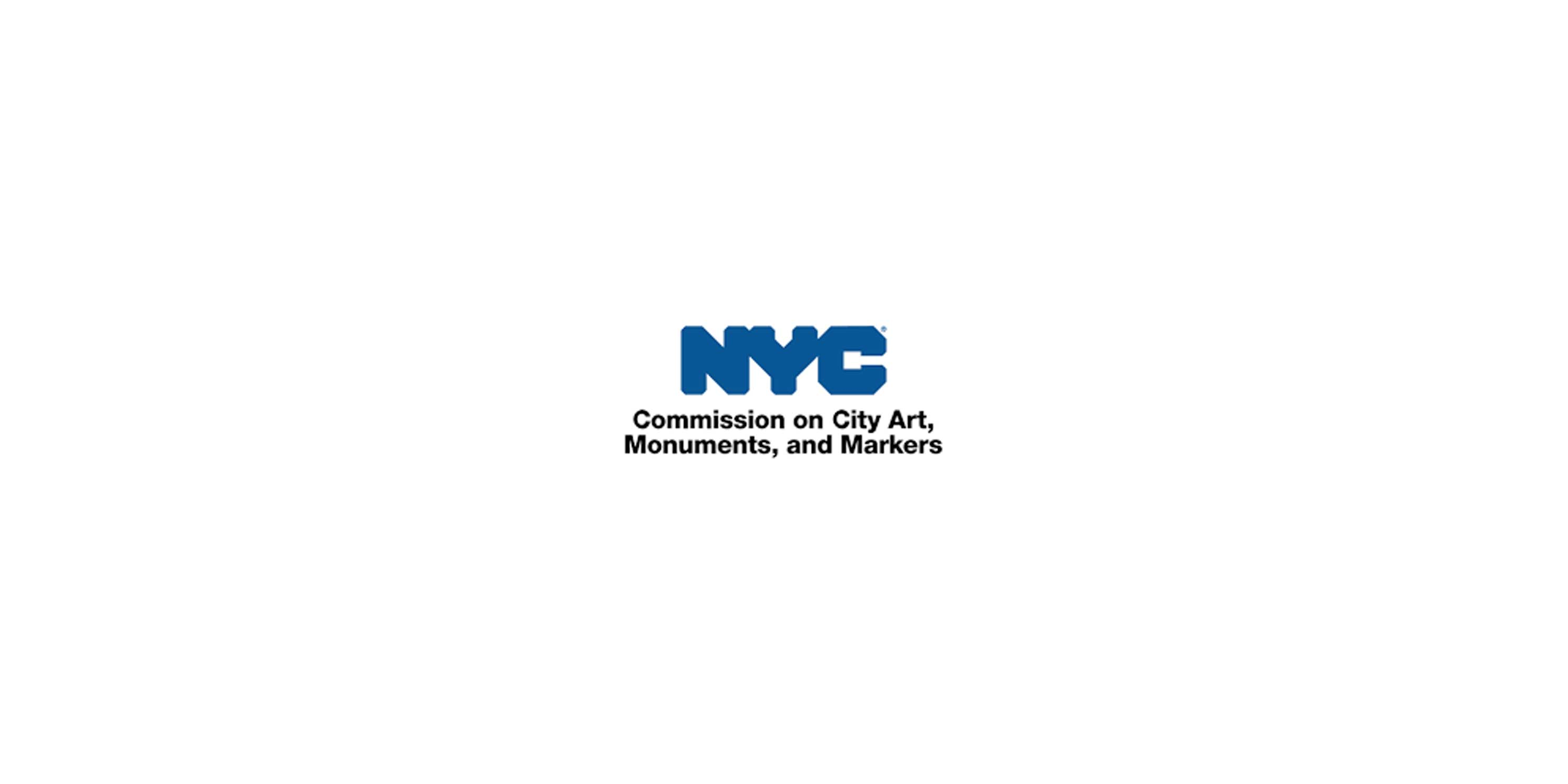 logo for New York City Commission on City Art, Monuments, and Markers