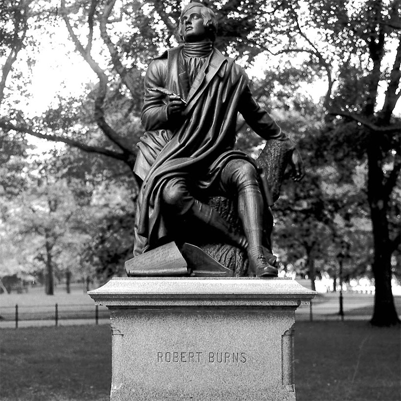 The Robert Burns Monument in Central Park