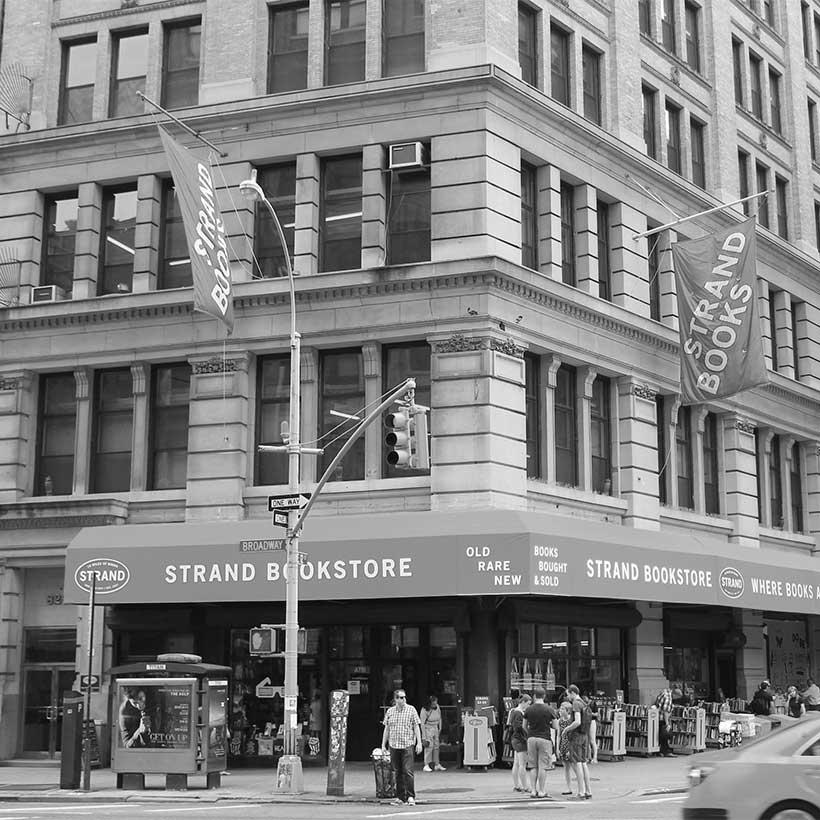 The Strand Book Store in Manhattan. Photo: Wikimedia Commons, Brianne Sperber.