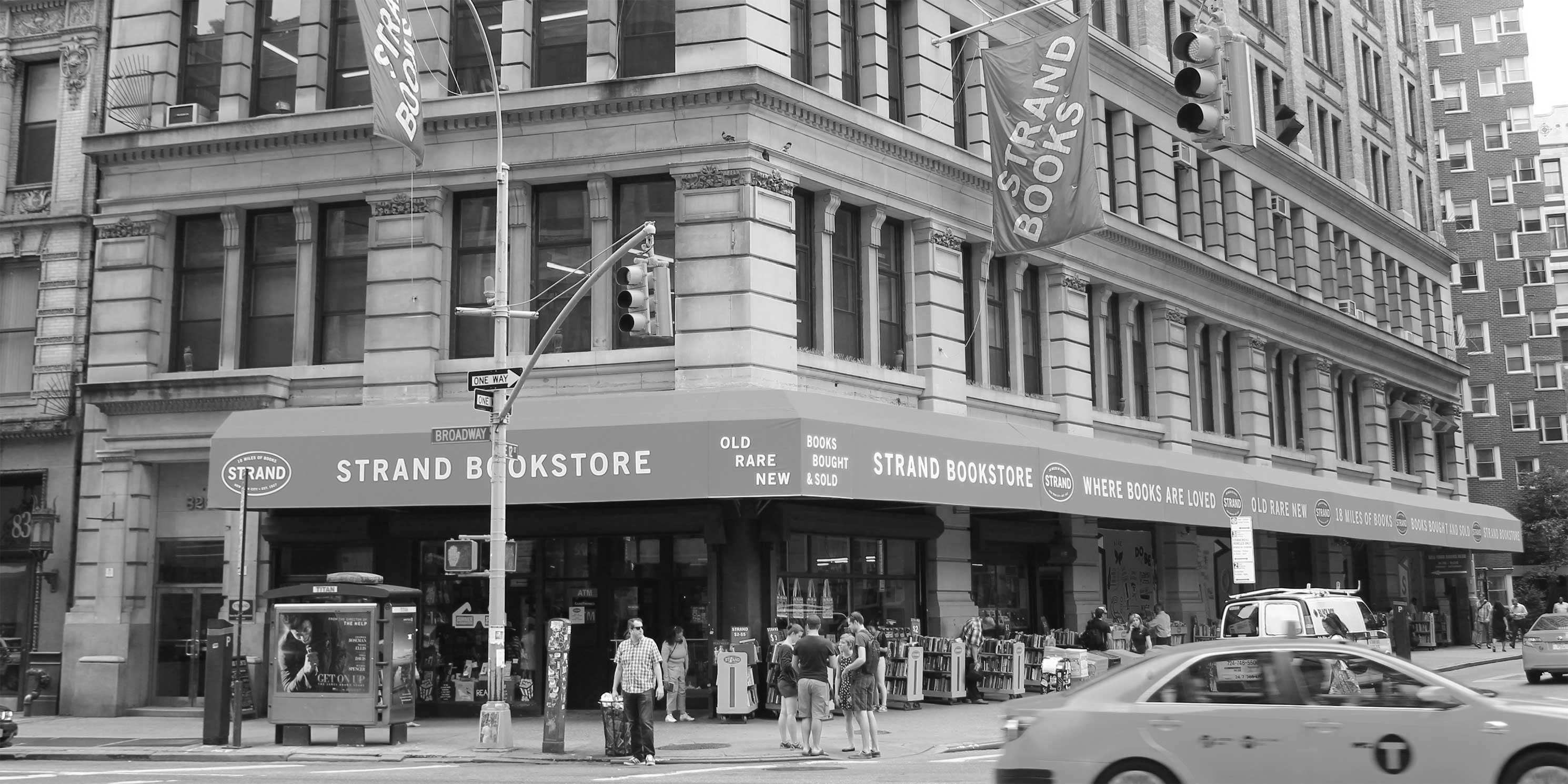 The Strand Book Store in Manhattan. Photo: Wikimedia Commons, Brianne Sperber.