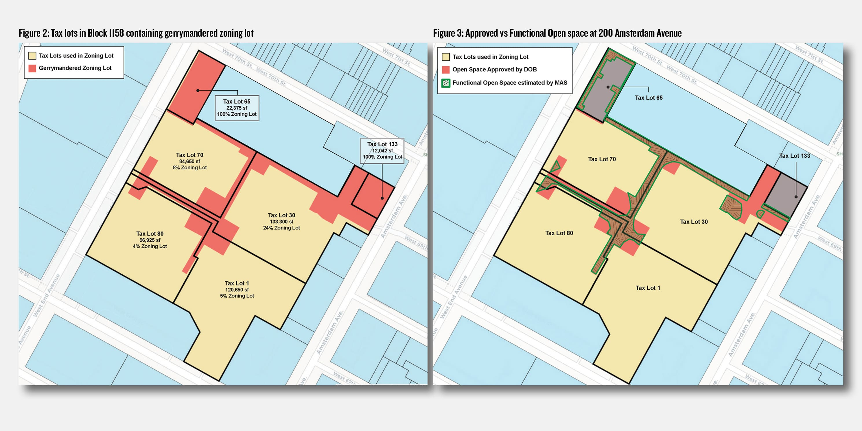 Map of the gerrymandered zoning lot and proposed tower at 200 Amsterdam Avenue