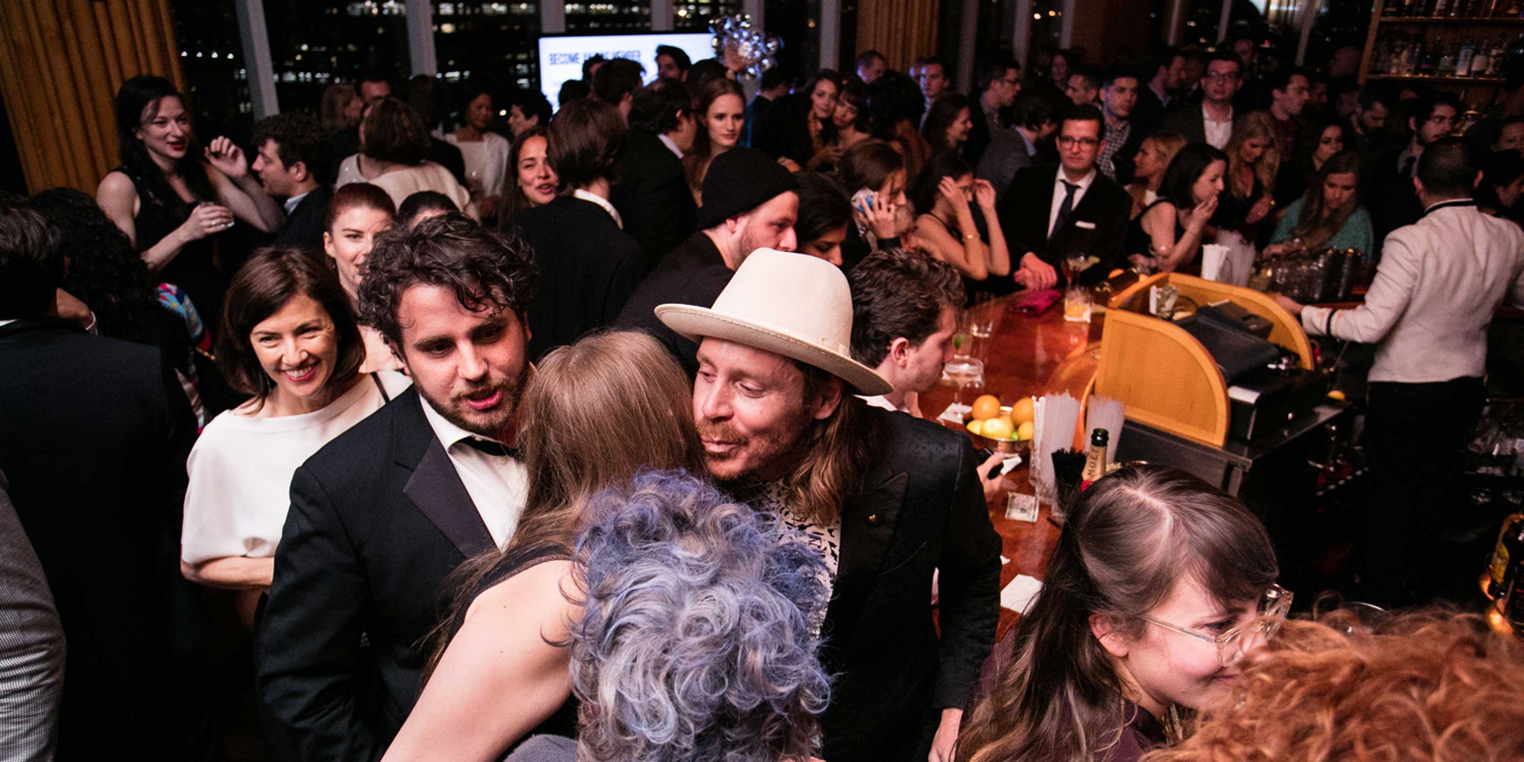 partygoers at the Municipal Art Society of New York's After Dark Party