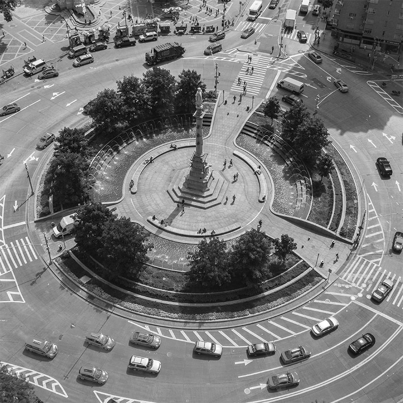 Columbus Circle at 59th Street in Manhattan