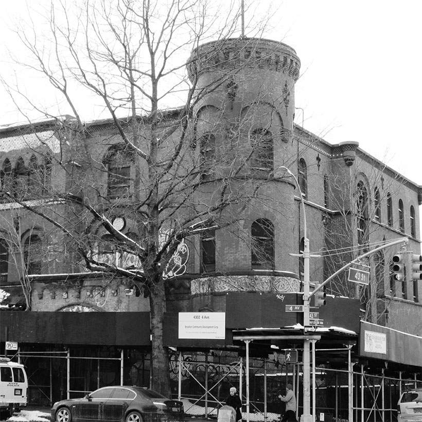 The former Brooklyn Police Department 18th Police Precinct Station House and Stable at 4302 4th Avenue in the Sunset Park neighborhood of Brooklyn. Photo: Wikimedia Commons, Beyond My Ken.