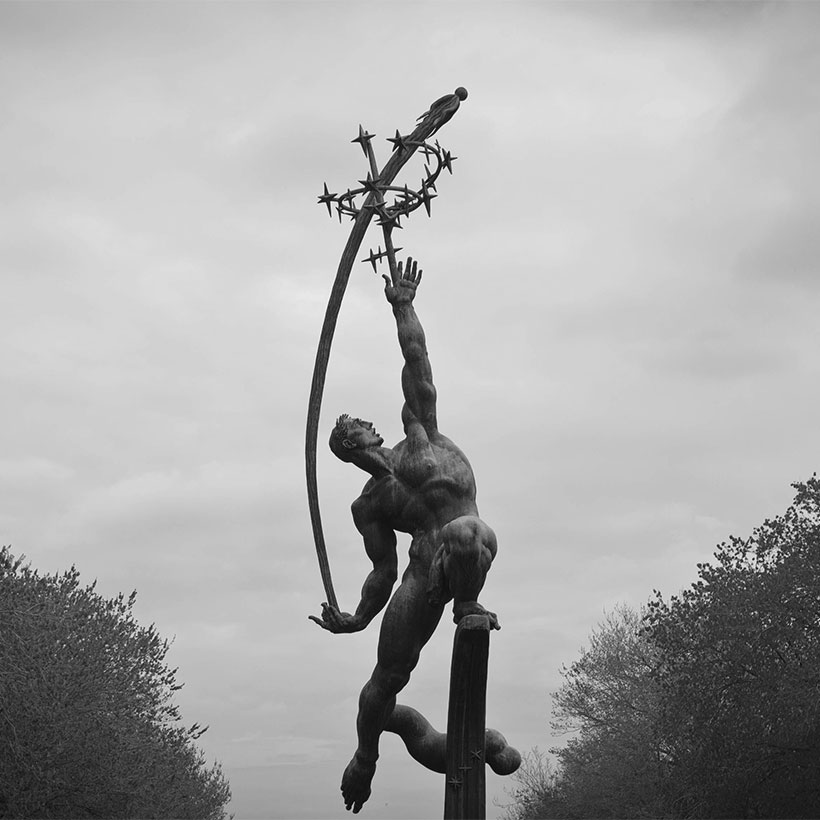 the Rocket Thrower, a sculpture in Flushing Meadows - Corona Park, Queens, New York
