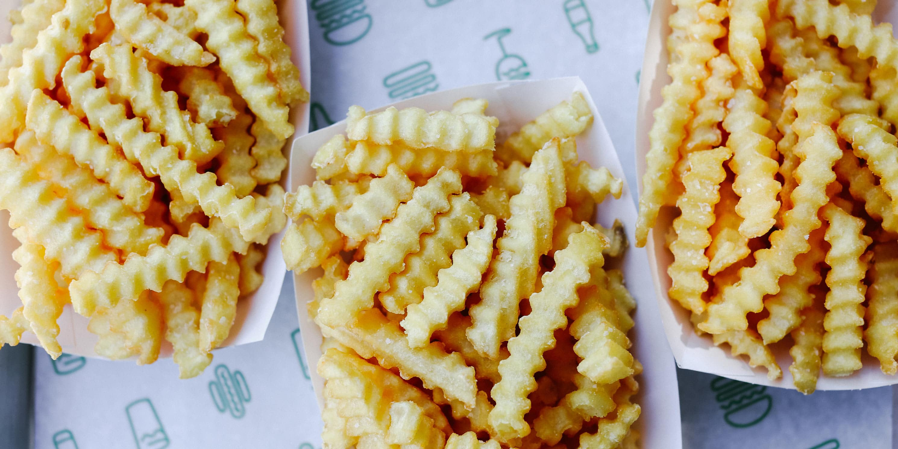 Shake Shack fries in paper trays