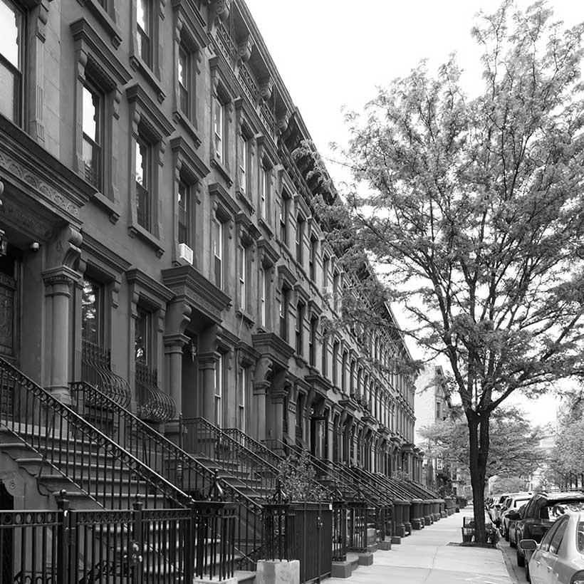 Brownstones on West 131st Street in Harlem. Photo: Barrett Reiter, New York City Landmarks Preservation Commission, 2017.