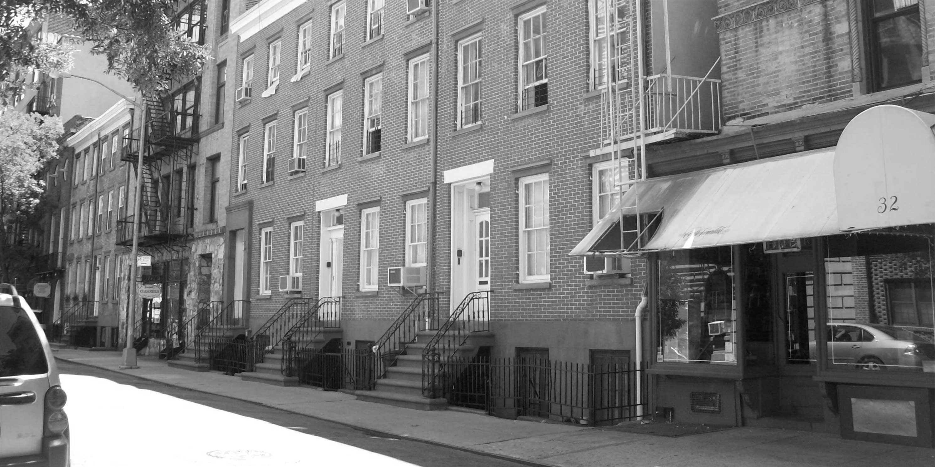 Historic homes on Jones Street in Manhattan