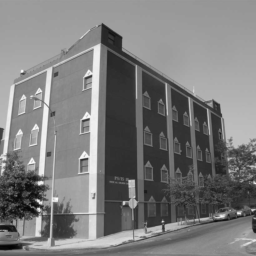 A local public school, PS/IS 18, in Inwood. Photo: Wikimedia Commons, Jim Henderson.