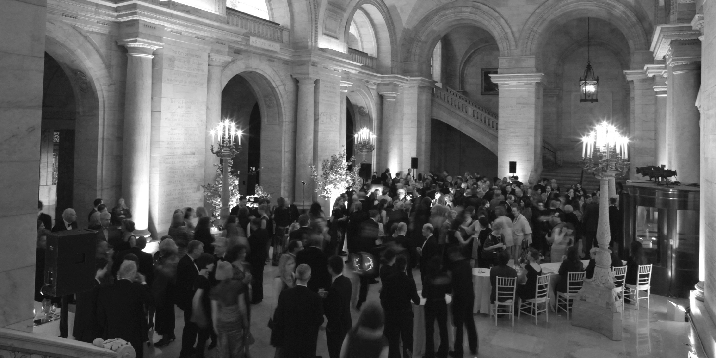 people mingle at the 2011 Gala in the New York Public Library