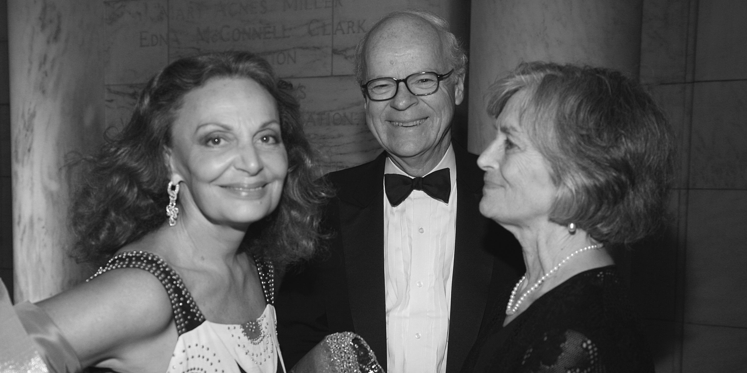 Diane von Furstenberg, Robert B. Tierney, and Carolyn Wakeman at the 2011 Gala