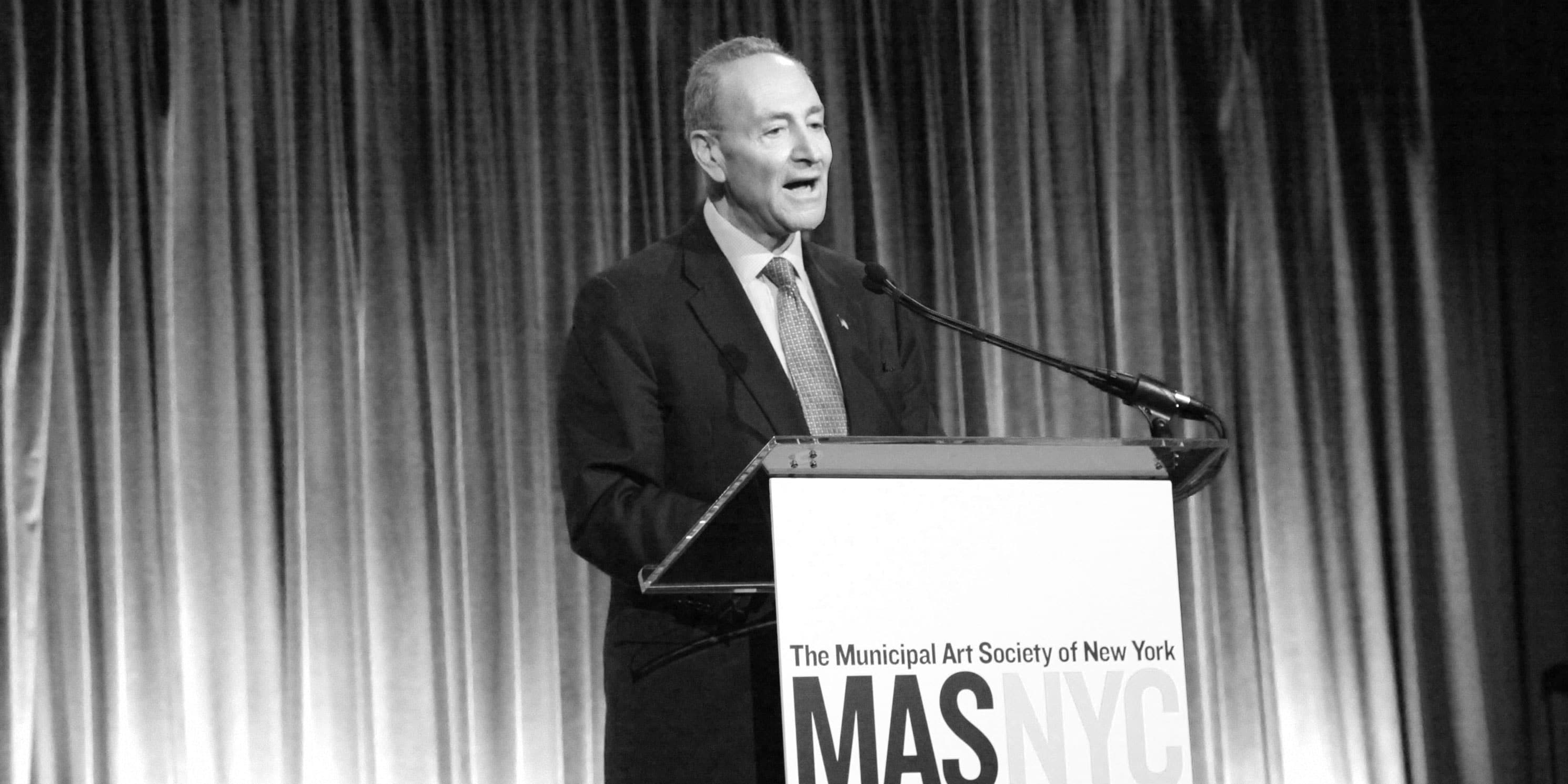 Senator Chuck Schumer speaks at the Gala