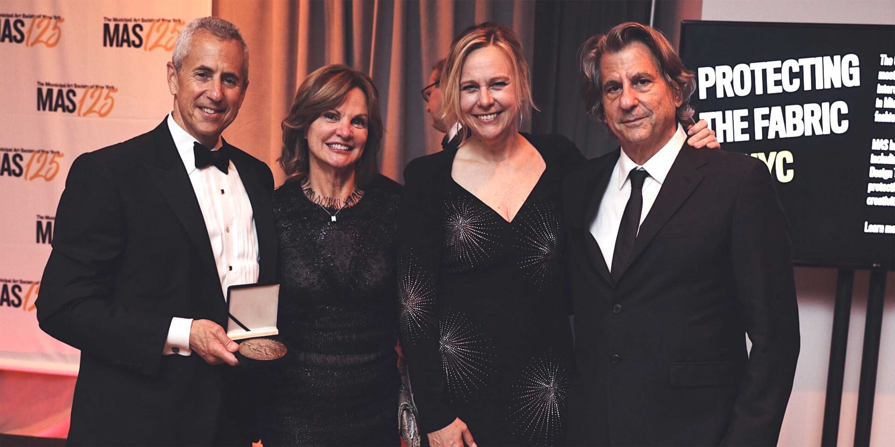 Audrey and Danny Meyer, Christy MacLear, and David Rockwell at the 2018 Gala