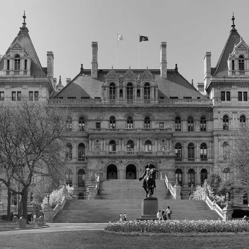 East face of the New York State Capitol in Albany, New York