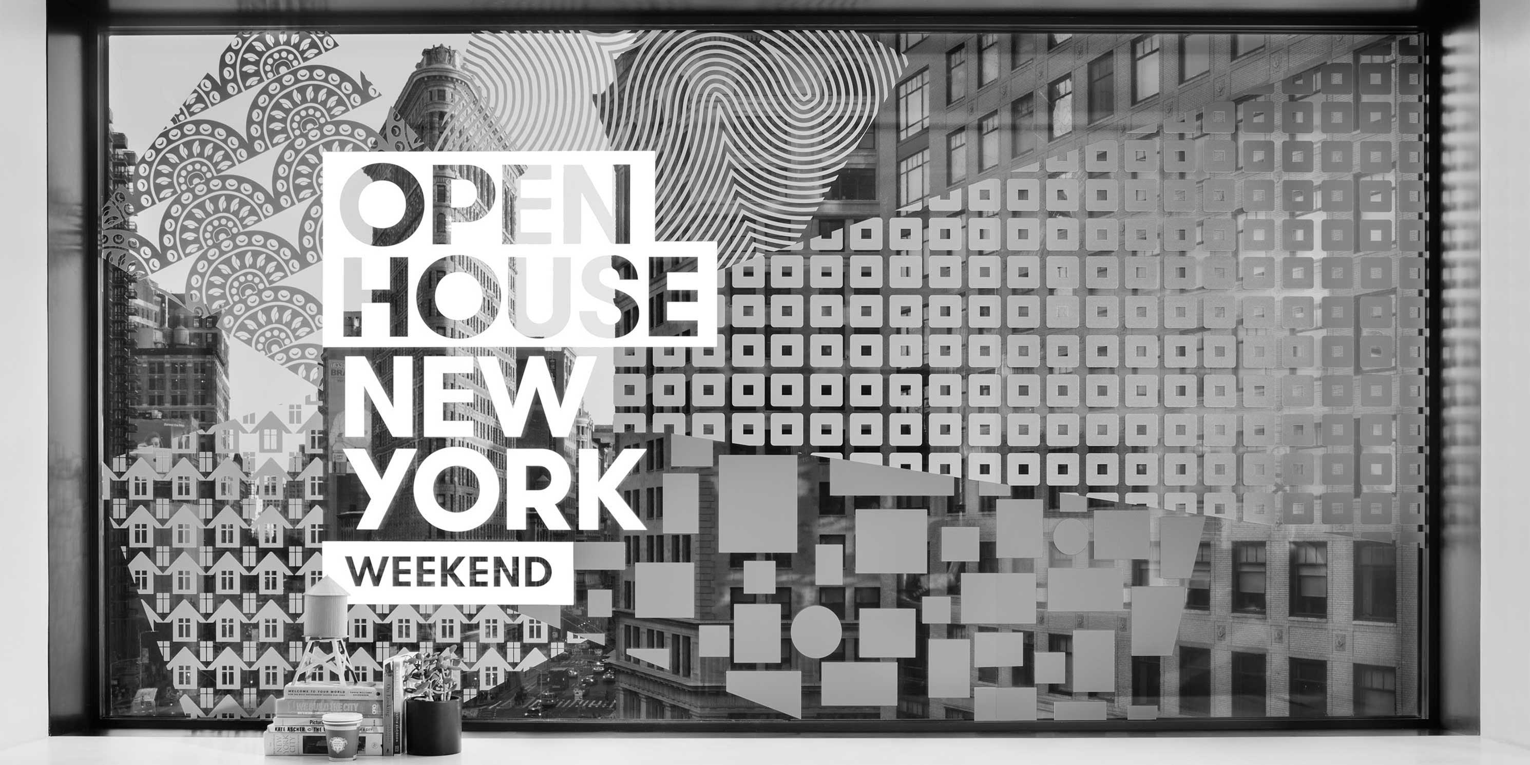 A window with the Open House New York decal on it. Photo: Open House New York.