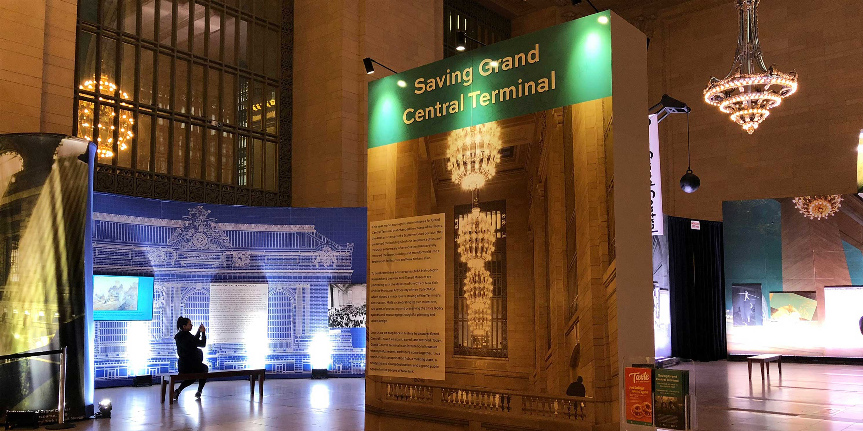 The Saving Grand Central exhibit in Grand Central Terminal's Vanderbilt Hall. Photo: Grand Central Terminal.
