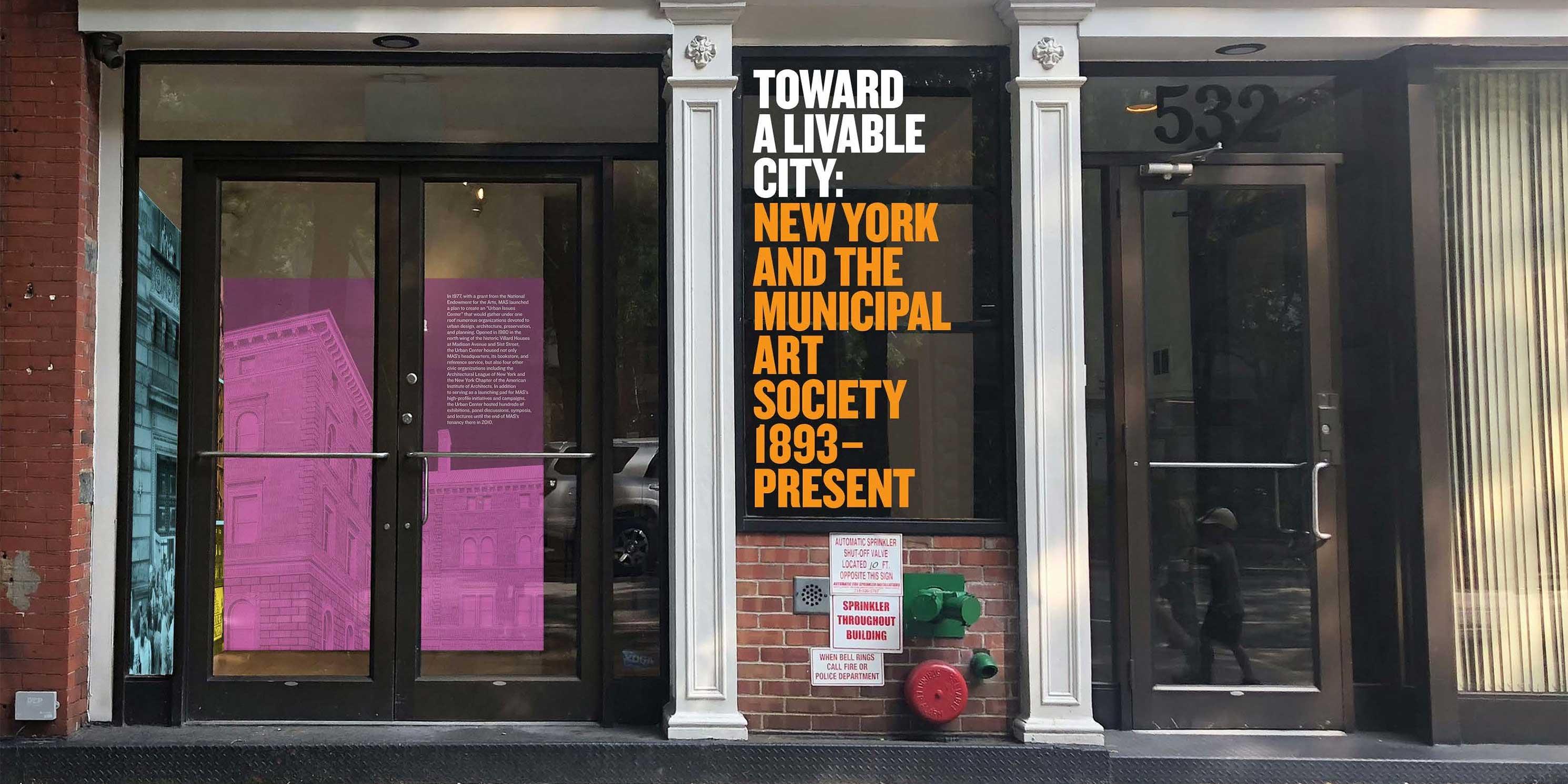 entrance to the exhibit, Toward a Livable City