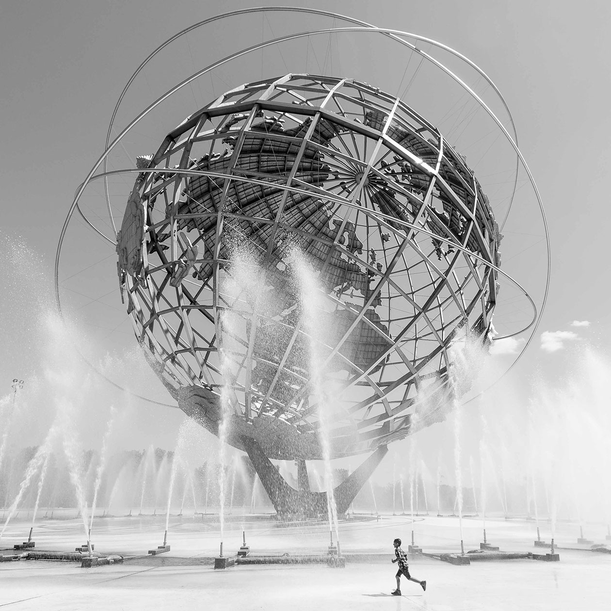 the Unisphere, stainless steel globe in Flushing Meadows–Corona Park