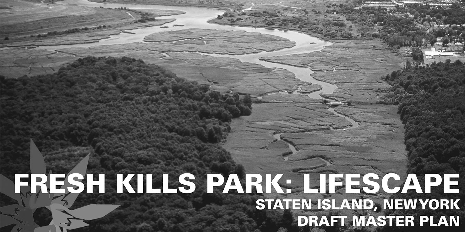 aerial view of Fresh Kills park