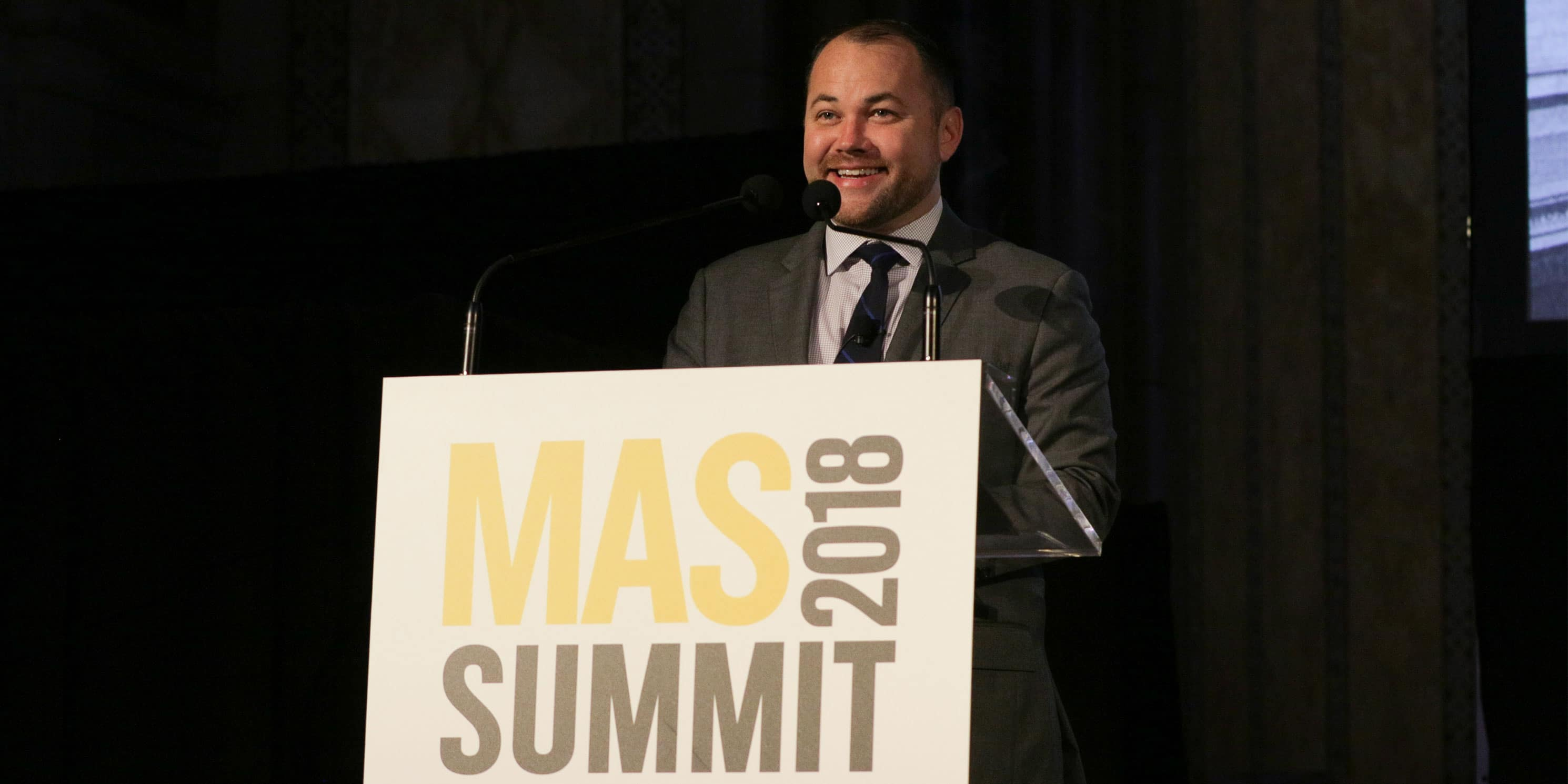 Hon. Corey Johnson speaks at the 2018 Summit