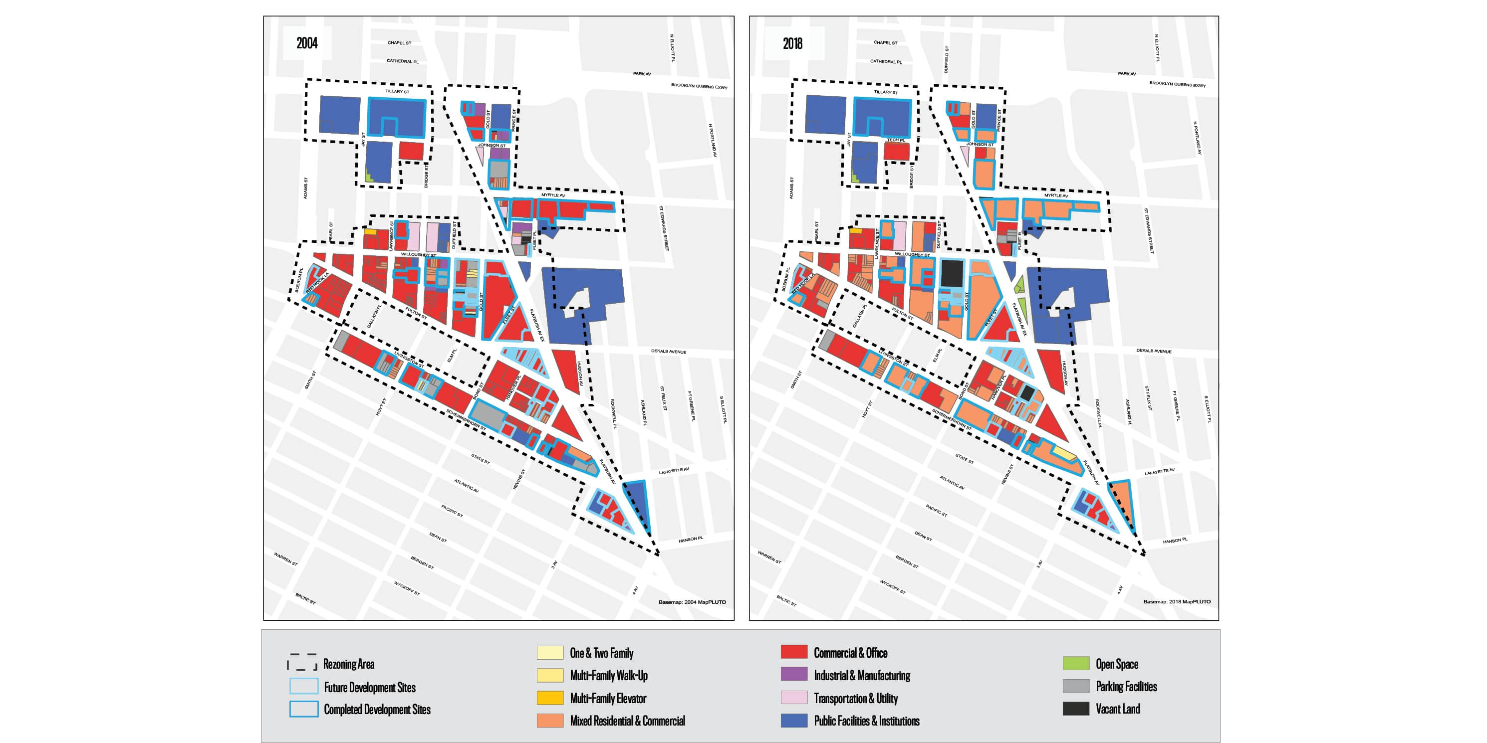 map showing land use in Downtown Brooklyn