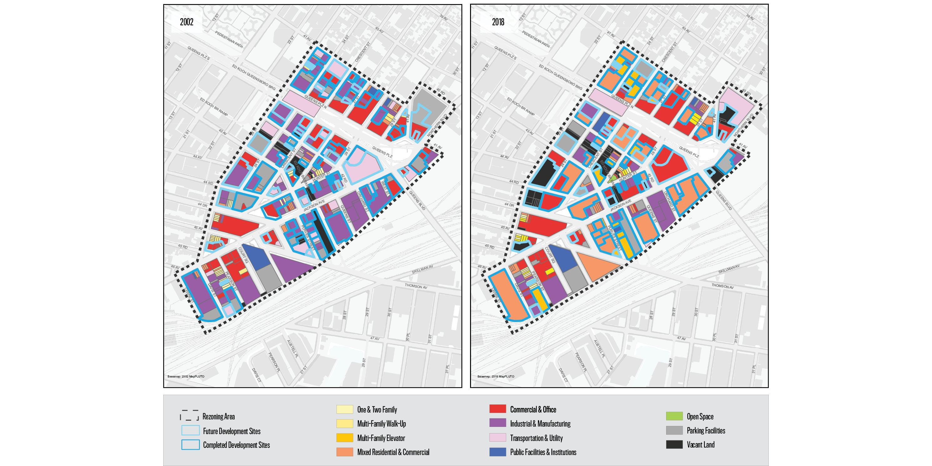 map showing land use in Long Island City