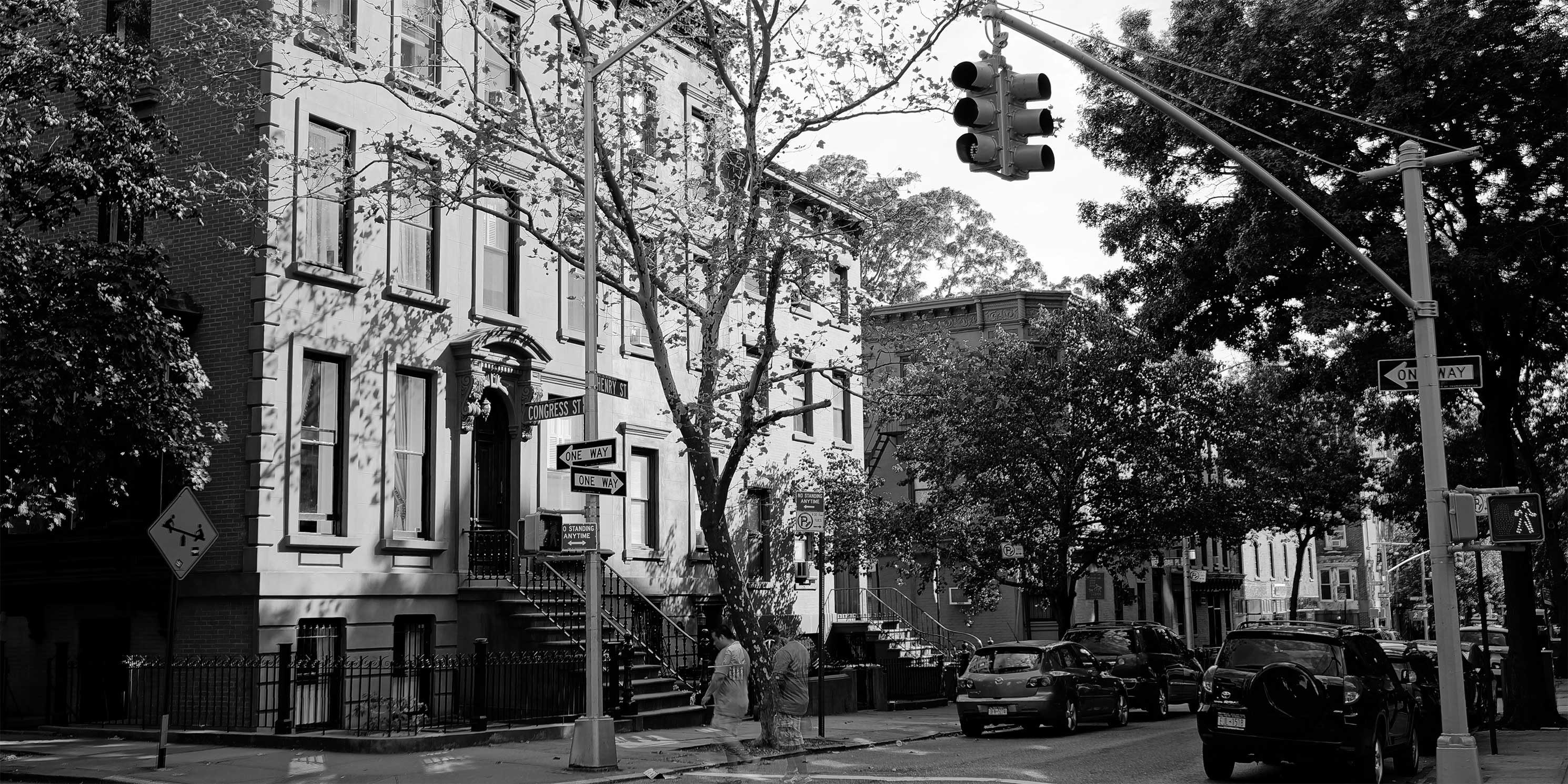 intersection of Henry and Congress Streets in Cobble Hill, Brooklyn