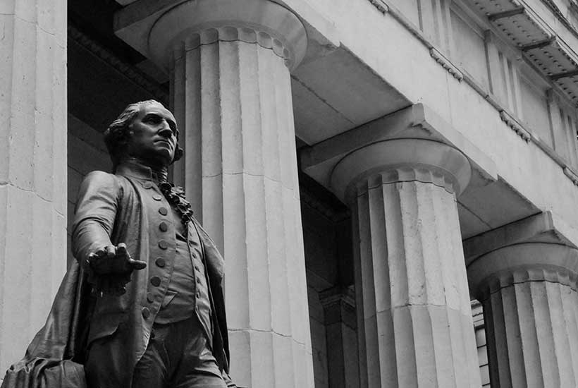 George Washington statue outside Federal Hall