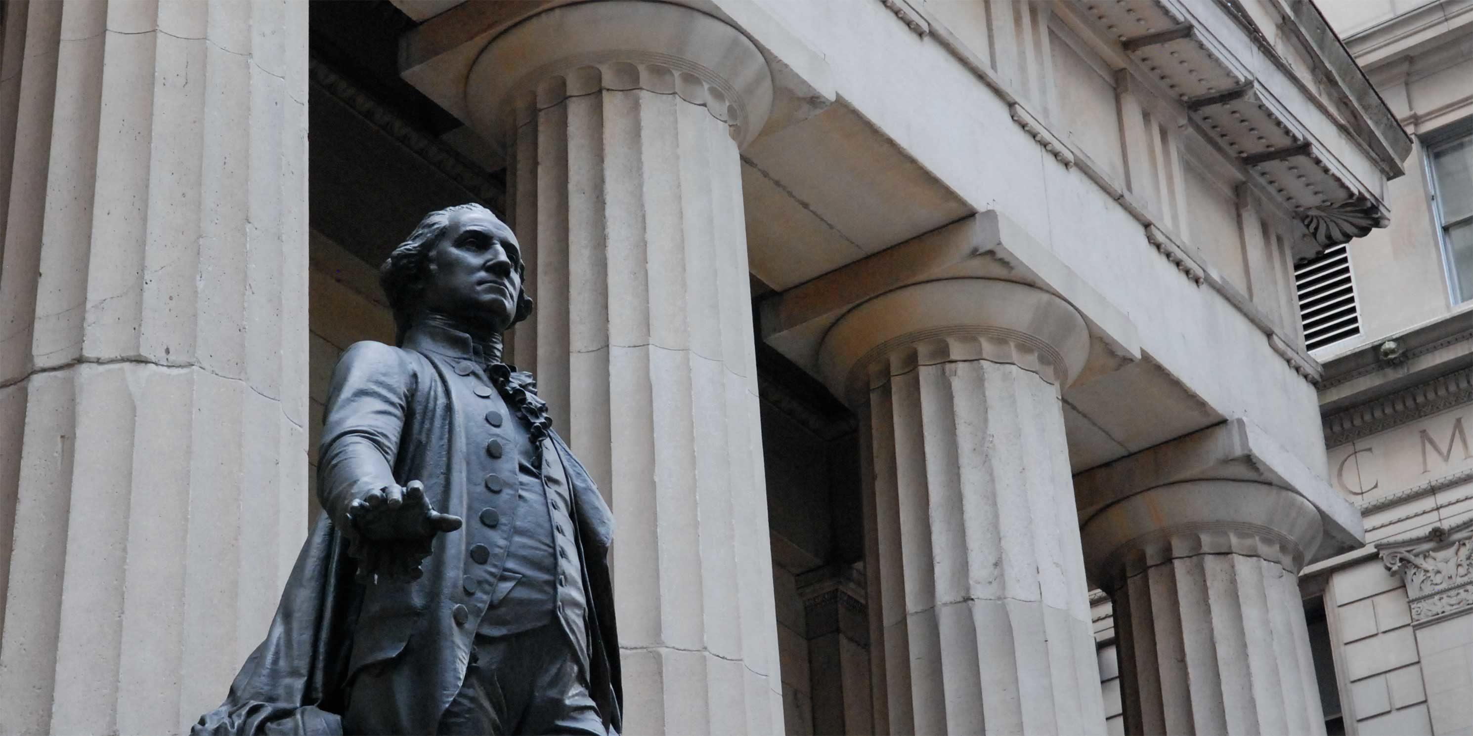 George Washington statue outside Federal Hall