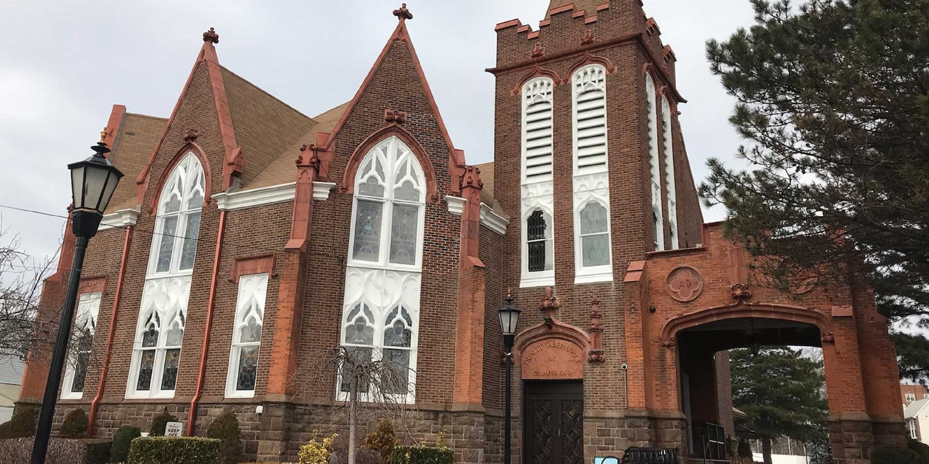 outside of church in Gravesend, Brooklyn