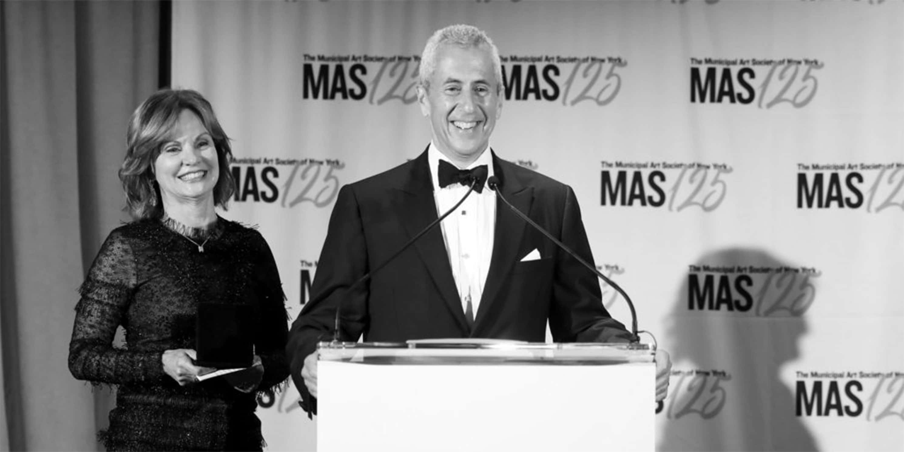 Danny and Audrey Meyer at speak at the 2018 Gala
