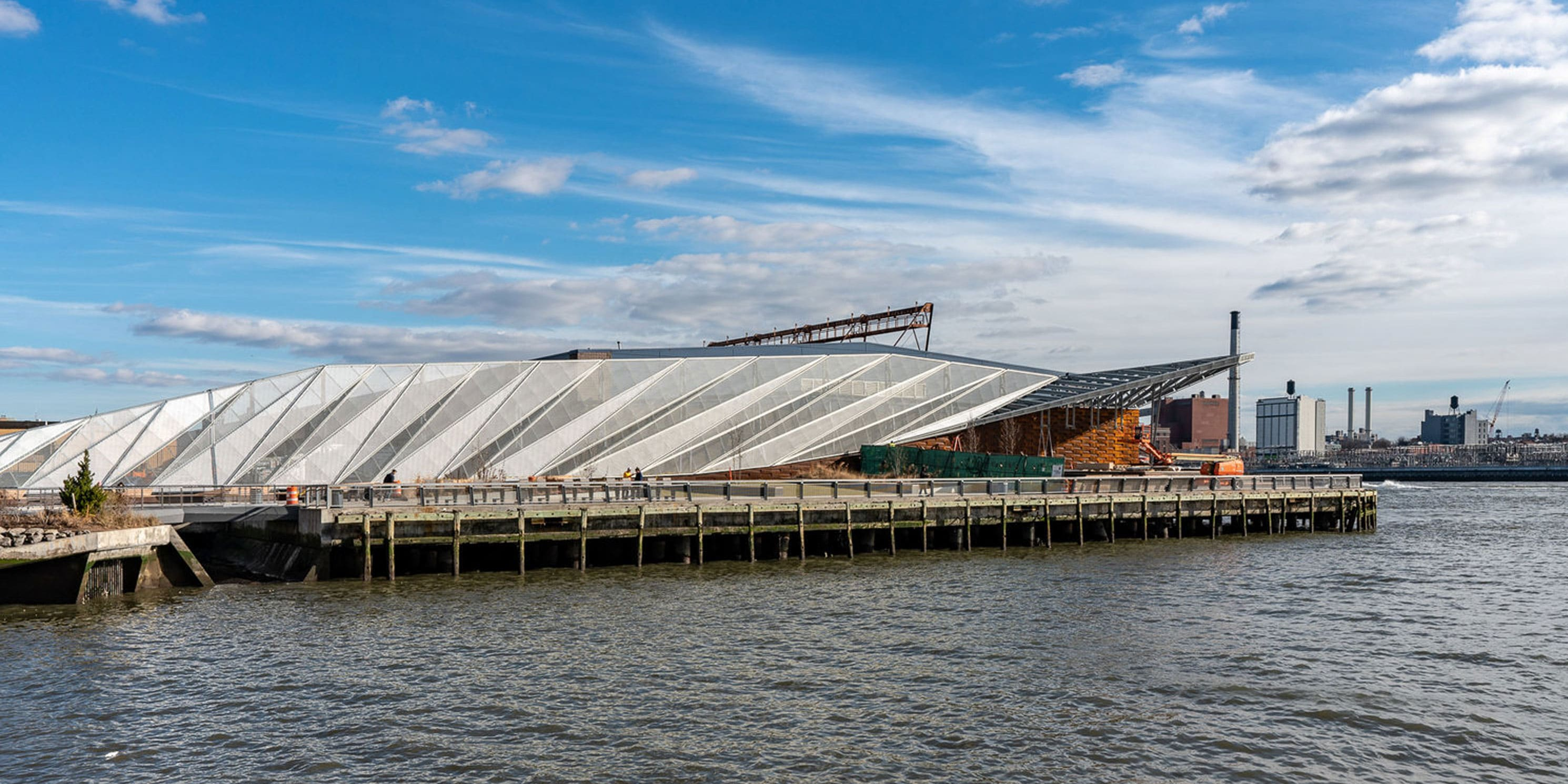 the renovated Pier 35 in Manhattan