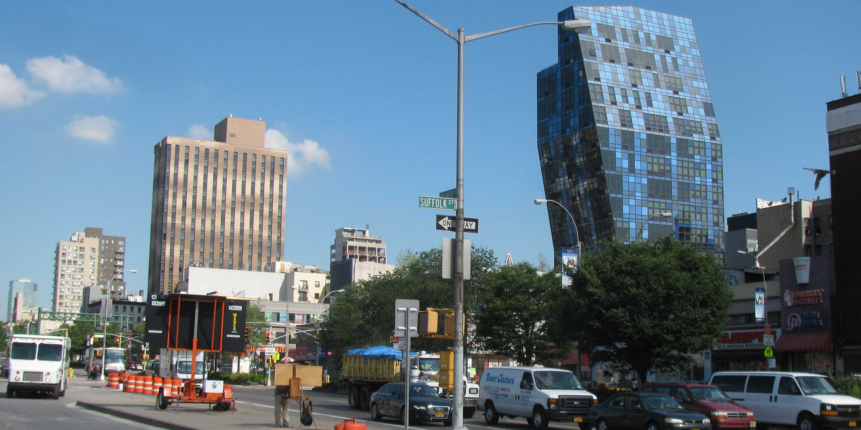 intersection of Delancey Street and Suffolk Street