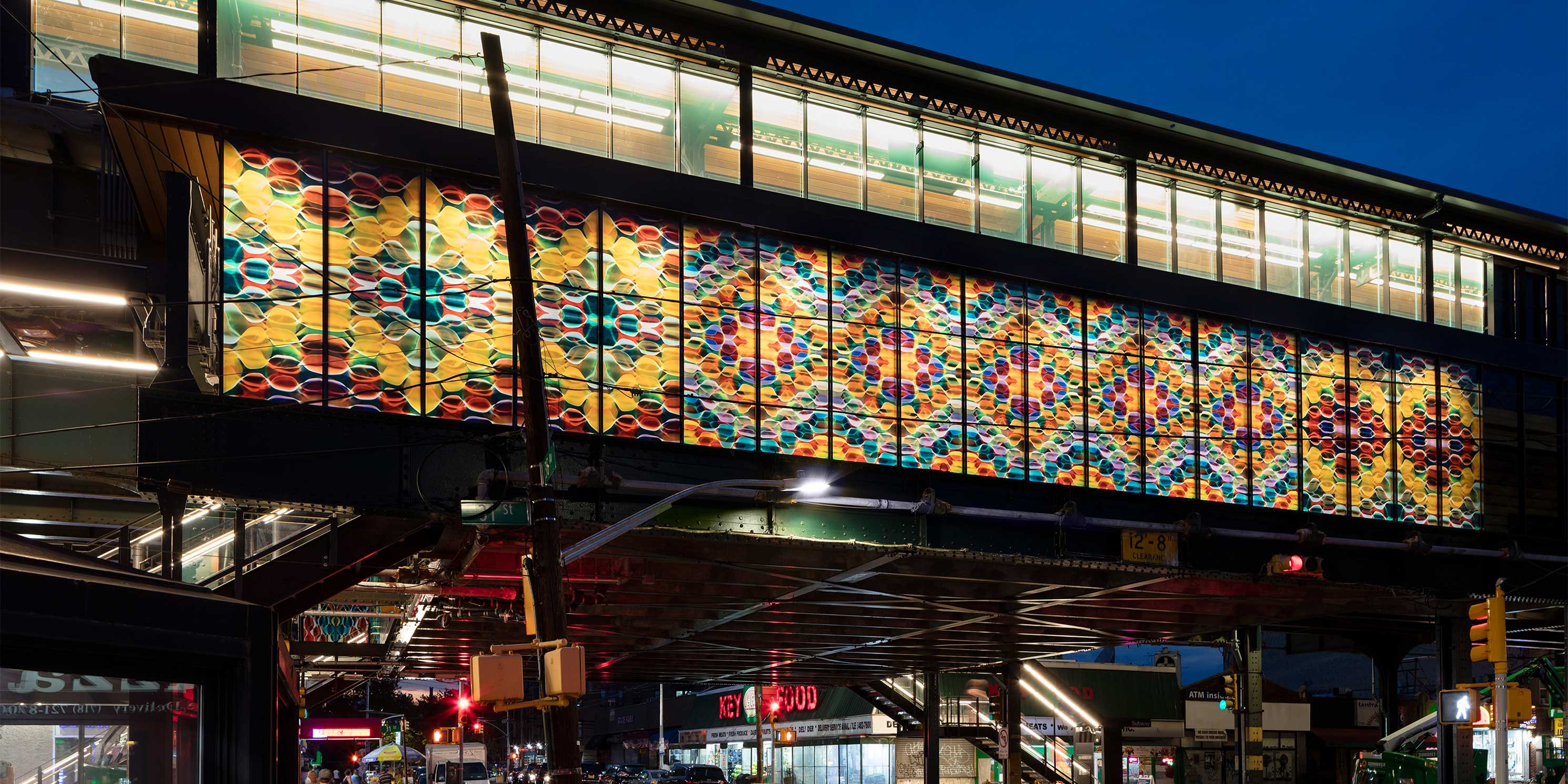 subway mural at 36 Avenue station in Astoria