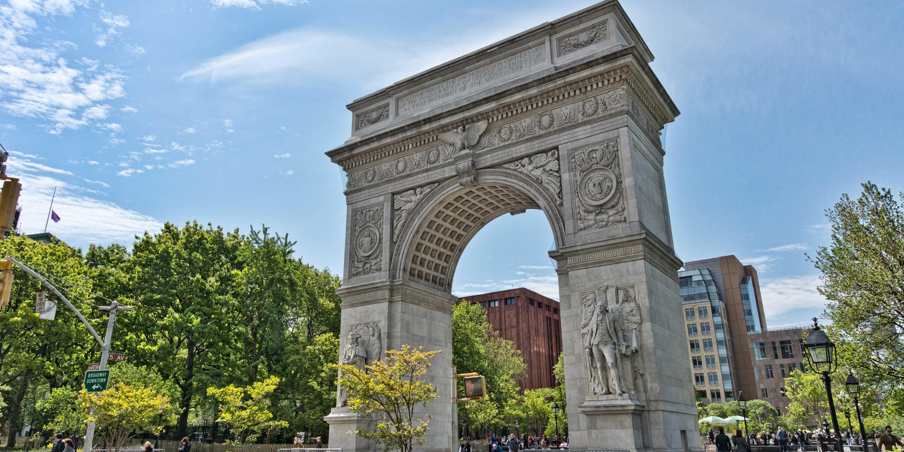 arch in Washington Square Park