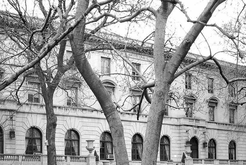 Exterior of the Andrew Freedman Home on the Grand Concourse