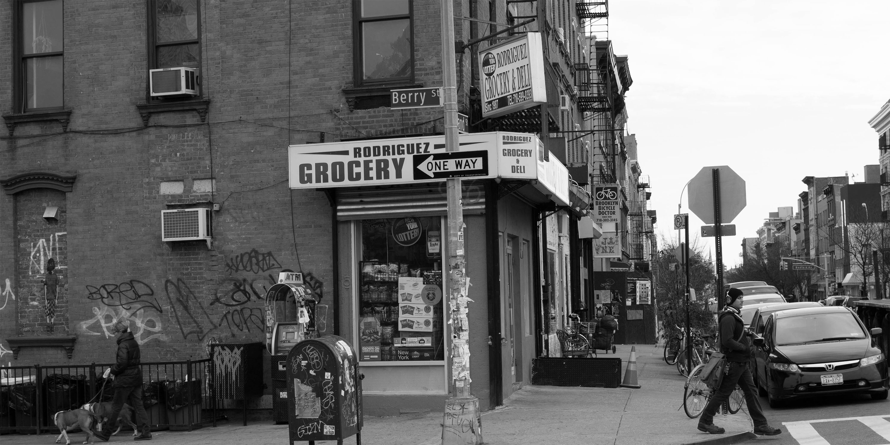 Corner grocery store in Williamsburg, Brooklyn